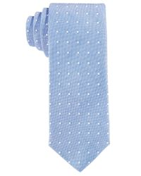 Con.struct - Con.struct Men's Blue Oxford Dot Slim Tie for Men - Lyst