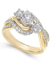 Macy's - Metallic Diamond Engagement Ring (1 Ct. T.w.) In 14k White Or Yellow Gold - Lyst