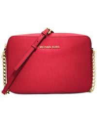 Michael Kors - Red Michael Jet Set Travel Large Crossbody - Lyst