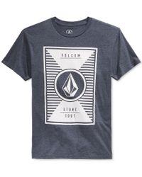 Volcom - Gray Men's Shizzle Heather T-shirt for Men - Lyst