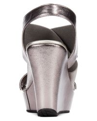 Kenneth Cole Reaction | Metallic Women's Sole Less 2 Platform Wedge Sandals | Lyst