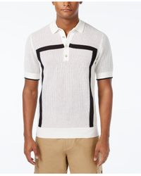Sean John | White Men's Intarsia Sweater-knit Polo, Only At Macy's for Men | Lyst