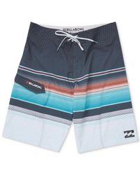 Billabong - Blue Men's All Day Platinum X Stripe Boardshorts for Men - Lyst