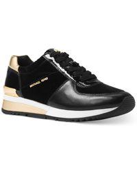 Michael Kors | Black Allison Trainer Sneakers | Lyst