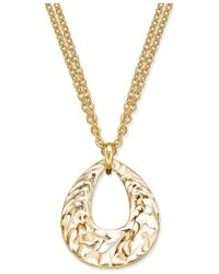 Charter Club | Metallic Erwin Pearl Atelier For Gold-tone Enamel Swirl Pendant Necklace, Only At Macy's | Lyst