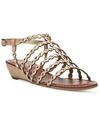 Carlos By Carlos Santana. Women's Brown Kaden Flat Sandals