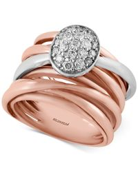 Effy Collection - Diamond Ring (3/8 Ct. T.w.) In 14k Rose And White Gold - Lyst