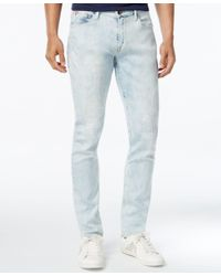 Guess - Blue Men's Slim-fit Tapered Jeans for Men - Lyst