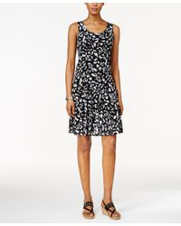 Style & Co. - Black Petite Sleeveless Printed Sheath Dress, Only At Macy's - Lyst