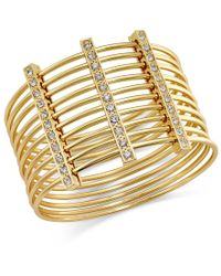INC International Concepts - Metallic Gold-tone Multi-row Pave Bar Bangle Bracelet, Only At Macy's - Lyst