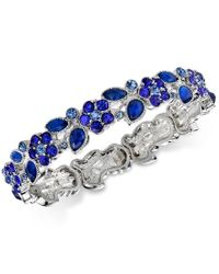 2028   Silver-tone Blue Flower Petal Stretch Bracelet, A Macy's Exclusive Style   Lyst