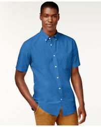 Tommy Hilfiger   Blue Big And Tall Men's Maxwell Short-sleeve Button-down Shirt for Men   Lyst