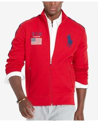 Polo Ralph Lauren | Red Men's Graphic Full-zip Track Jacket for Men | Lyst