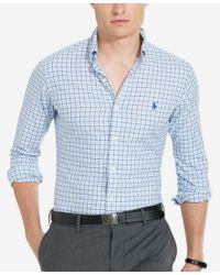 Polo Ralph Lauren | Blue Men's Twill Sport Shirt for Men | Lyst
