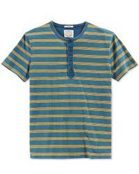 Lucky Brand - Blue Men's Indigo Henley T-shirt for Men - Lyst