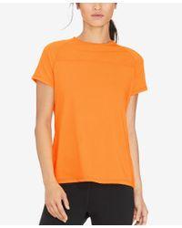 Lauren by Ralph Lauren - Orange Stretch-jersey Active Shirt - Lyst