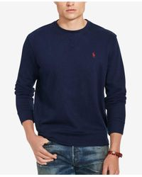 Polo Ralph Lauren - Blue Men's Crewneck Sweater for Men - Lyst
