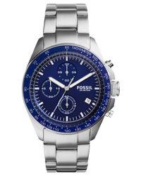 Fossil - Metallic Men's Chronograph Sport 54 Stainless Steel Bracelet Watch 44mm Ch3030 for Men - Lyst