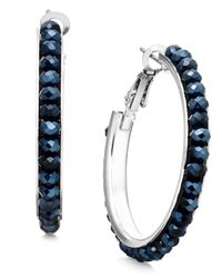 INC International Concepts | Blue Medium Hoop Earrings, Only At Macy's | Lyst