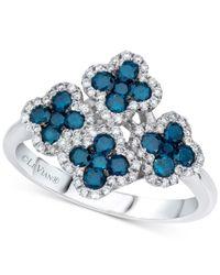Le Vian | Blue Diamond Flower Ring (1 Ct. T.w.) In 14k White Gold | Lyst