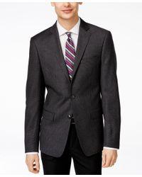 Calvin Klein | Gray Men's Slim-fit Grey Herringbone Sport Coat for Men | Lyst