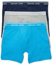 Michael Kors | Blue Men's Essentials Boxer Briefs, 3-pack for Men | Lyst