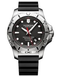 Victorinox Men's Swiss I.n.o.x. Professional Diver Black Rubber Strap Watch 45mm 241733.1 for men