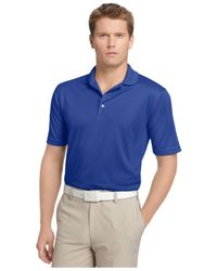Izod | Blue Performance Solid Grid Golf Polo for Men | Lyst