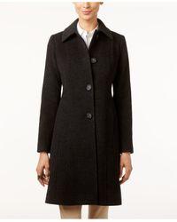 Anne Klein | Black Wool-blend Walker Coat | Lyst