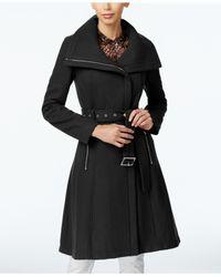 BCBGeneration   Black Asymmetrical A-line Walker Coat   Lyst
