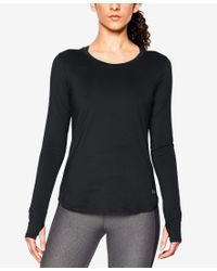 Under Armour | Black Fly By Long-sleeve Running Top | Lyst