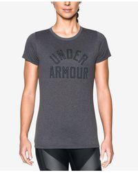 Under Armour   Gray Ua Tech Logo T-shirt   Lyst