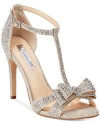 INC International Concepts | Metallic Women's Reesie Rhinestone Bow Evening Sandals, Only At Macy's | Lyst