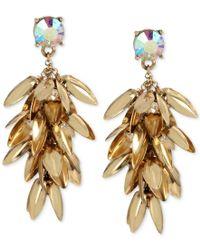 Betsey Johnson - Metallic Gold-tone Leaf Waterfall Drop Earrings - Lyst