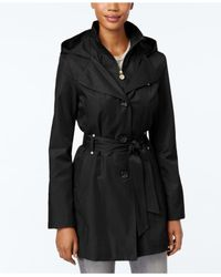 INC International Concepts | Black Hooded Raincoat, Only At Macy's | Lyst