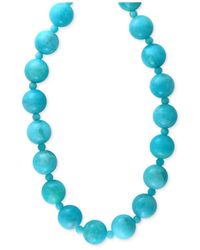 Effy Collection | Blue Effy Amazonite (12 And 4mm) Bead Statement Necklace In 14k Gold | Lyst