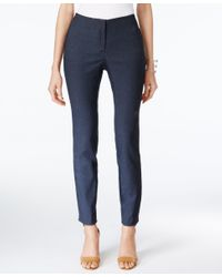 Alfani | Blue Skinny Denim Ankle Pants, Only At Macy's | Lyst