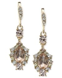 Givenchy - Metallic Teardrop Crystal Drop Earrings - Lyst