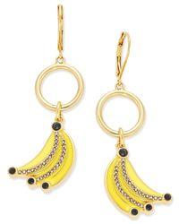 Kate Spade | Metallic Out Of Office Gold-tone Enamel Banana Drop Earrings | Lyst