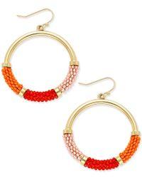 kate spade new york   Metallic That's A Wrap Gold-tone Beaded Hoop Earrings   Lyst