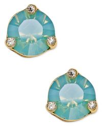 kate spade new york | Metallic Rise And Shine Gold-tone Crystal Stud Earrings | Lyst