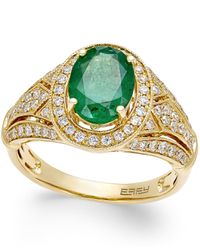 Effy Collection | Red Emerald (1-1/2 Ct. T.w.) And Diamond (1/2 Ct. T.w.) Ring In 14k Gold | Lyst
