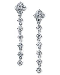 Sirena | Metallic Diamond Drop Earrings (1 Ct. T.w.) In 14k White Gold | Lyst
