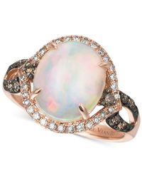 Le Vian | Multicolor Opal (2-1/3 Ct. T.w.) And Diamond (1/2 Ct. T.w.) Statement Ring In 14k Rose Gold | Lyst
