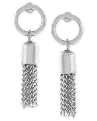 BCBGeneration - Metallic Circle Tassel Drop Earrings - Lyst