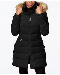 Ivanka Trump | Black Faux-fur-trim Down Puffer Coat | Lyst