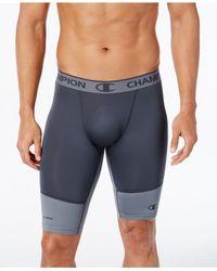 Champion   Blue Men's Powerflex Compression Shorts for Men   Lyst
