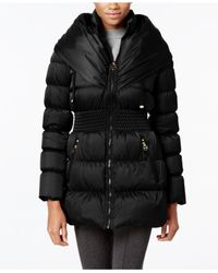 Laundry by Shelli Segal | Black Pillow-collar Down Coat | Lyst