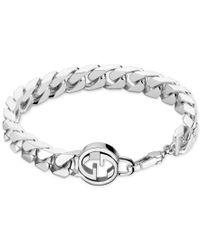 Gucci | Metallic Men's Sterling Silver Interlocked Gg Motif Bracelet Yba356263001 for Men | Lyst
