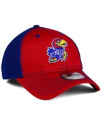 KTZ - Blue Kansas Jayhawks Team Front Neo 39thirty Cap for Men - Lyst